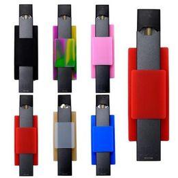 COCO Silikon-Aufkleber für JUUL MYLE Neueste Zurück Halter Vape Pen Handyhalter Handy Zurück Aufkleber Zurück Fall Halter Verschiedene Farben DHL von Fabrikanten