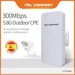 lunga distanza dalla fotocamera Sconti Long Distance Outdoor CPE 5.8Ghz 300 Mbps Wireless Access Point POE AP Router Extender AP Bridge Per IP Camera CF-E120A