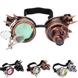 2019 saldatura occhiali occhiali LELINTA Cosplay Vintage Victorian Rivet Steampunk Occhiali Occhiali saldatura Cyber Gothic FreeshippingWholesale Steampunk Goggles saldatura occhiali occhiali economici