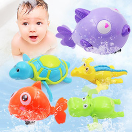 2019 novo brinquedo tartaruga natação Brinquedo banho clássico Colorido Animais Mistos Brinquedos de Natação Água Clockwork Wind-up Natação Brinquedo crianças Brinquedo de Banho para o Banho Do Bebê Brinquedos