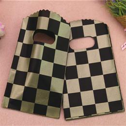 acessórios de jóias por atacado Desconto Novo Design Atacado 50 pçs / lote Luxo Vintage BlackGold Grid Packagge Sacos Pequenos Acessórios de Jóias Sacos De Embalagem