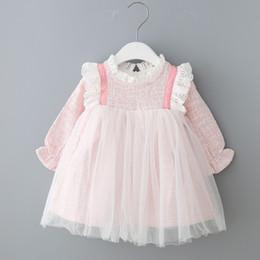 novas meninas moda vestidos Desconto 2019 promoção baby girl dress vestido infantil bebê dress new outono menina mingyuanfeng princesa moda fio emendado peng