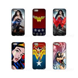 Mini caja del teléfono galaxy s4 online-Sexy Wonder Woman funda dura para teléfono Samsung Galaxy Note 3 4 5 8 S2 S3 S4 S5 MINI S6 S7 edge S8 S9 Plus