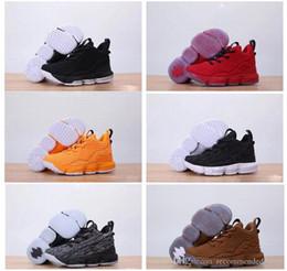 reputable site 7c29b 88723 lbj sneakers Rabatt Kinder LBJ 15 Ashes Gelb und Weiß Schwarz ICE Basketballschuhe  Jugend Jungen Mädchen