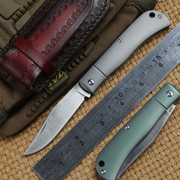Práctico cuchillo de cocina online-DICORIA HJ110 cuchillo plegable S35VN hoja de titanio mango que acampa caza supervivencia al aire libre cocina cuchillos de fruta práctica herramienta EDC