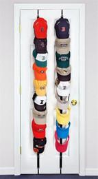 Rack pour porte en Ligne-Adjustasble Cap Rack Casquette De Baseball Porte-Chapeau Rack Organisateur De Stockage Porte Placard Cintre + Crochet 3 Couleurs