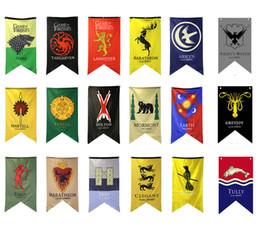 decorazioni appiccicose diy Sconti 18 stili 18 stili 70 * 125 cm Game of Thrones bandiere decorazione del giardino bandiera fai da te cortile decorativo appeso casa banner bandiere puntelli del partito FFA1969