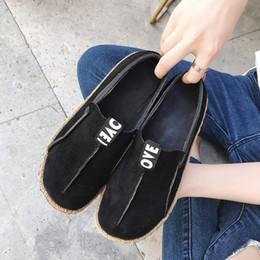2019 wc cover Masorini New Flock zapatos planos para mujer zapatos de mujer resbalones en pisos Trabajo Mujeres Low Cover Heel Drop Shipping W-510-3 rebajas wc cover