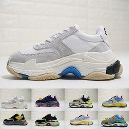 Sapatas do ecru on-line-2.0 Além disso Branca Ecru Suede Mens Marca de luxo de moda sapatos Designe Women Shoes Formadores Sneakers Dad Top Quality Triple S Mens Zapatos
