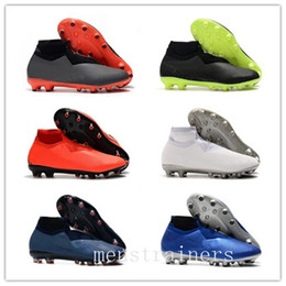 Df chaussures en Ligne-2020 Designer Mens Phantom Vision Elite VSN DF AG incendie New Lights Under The Radar Man haute cheville Crampons Football Chaussures de football