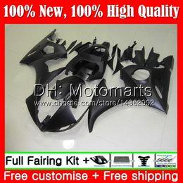 2020 carenado negro mate para r6 Cuerpo para YAMAHA YZF600 YZF R6 03 04 05 YZFR6 03 04 05 89MT10 YZF 600 R 6 YZF-R600 Mate negro YZF-R6 2003 2004 2005 Fairing Bodywork Kit carenado negro mate para r6 baratos