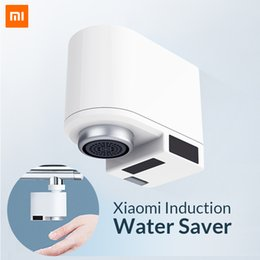 Rubinetti a infrarossi online-Xiaomi Zajia Induction Water Saver Intelligente Intelligent Infrared Induction Water Faucet Anti-overflow Girevole Testa Water Saving Ugello Tap