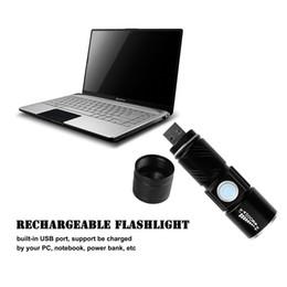 Canada Hot 3 Mode Tactique Flash Light Torch Mini Zoom Rechargeable Puissant USB LED Flashlight AC Lanterna Pour Voyage En Plein Air Offre