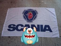 Camiones scania online-Bandera con el logo de scania trucks, scania trucks 90 * 150CM poliéster banner 100% poliéster 90 * 150 cm, Impresión digital