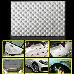 80 * 50 см автомобиль звукоизоляция пены брандмауэр шумоизоляция автомобиля теплоизоляционный экран изоляционный коврик алюминиевая фольга шумоподавления управления от Поставщики термостойкий материал