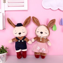meninos brinquedos macios Desconto Boneca de Pelúcia Brinquedos de Pelúcia Animais Macios Crianças Brinquedos Do Bebê Para Meninas Crianças Meninos Presente de Aniversário Kawaii Dos Desenhos Animados Coelho Quente J190717