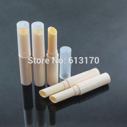 leere lipgloss-behälter Rabatt Leeren der neuen Ankunfts-Lippenbalsam Tubes Beige Lippenstift Rohr Bevel DIY Lipgloss Verpackungsbehälter Bohrung