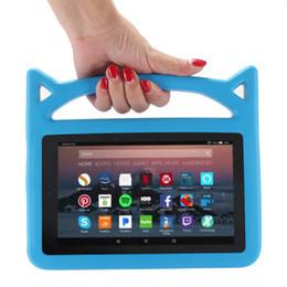 espuma de alça ipad mini Desconto Crianças Lidar Com EVA Foam À Prova de Choque Kid-Proof Tablet Capa para iPad Mini 123/4 Ar 5/6 Novo ipad 2017/2018 Kindle Fire 7 Bonito Diabo