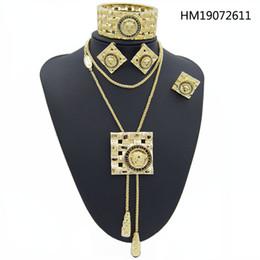 2019 collana della sposa del pavone Orecchini a catena superiore di marca degli animali Collana lunghi accessori regalo di compleanno di natale di ragazza delle donne gioielli di moda sposa