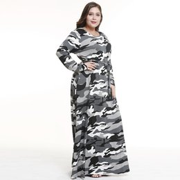 Le donne di modo vestono il grasso online-Abbigliamento donna New Fat Fat MM Abito mimetico e gonna lunga con grandi taglie In Fashion Designer Dress sexy