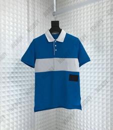 La mejor marca de diseñador de la marca Para hombre Camiseta de lujo Turn-down Collar polo bordado carta carta remiendo de color Camiseta Casual camiseta top desde fabricantes