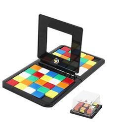 Cubos duplos on-line-Quebra-cabeça Cubo 3D Puzzle Raça Cube Board Game crianças Adultos Educação Toy pai-filho velocidade dobro Jogo Magic Cubes