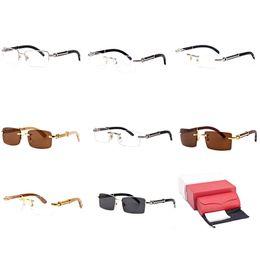 2dcae137ab5 vintage aluminum eyeglass frames Coupons - Rimless Sunglasses Wood  Rectangle Optical Frame Buffalo Horn Eyeglasses Sportswear