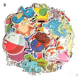 80 pcs / ensemble Cartoon po ke Graffiti Autocollant Personnalité Bagages DIY autocollants Squirtle firedragon Bulbasaur PVC Stickers Muraux sac jouets ? partir de fabricateur