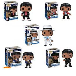 Michael jackson pvc on-line-5 Estilos Funko Pop Michael Jackson Figuras de Ação boneca Brinquedos 10 centímetros PVC Ação Música Superstar boneca Modelo Brinquedos caçoa o presente L544