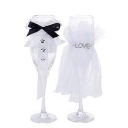set de regalo de vino de cristal Rebajas Cristal Champagne Copa de cristal Tostado Champagne Gafas Wedding Party Bar Familia Cubilete Decoración Copas de Vino Tazas Sets de Regalo GGA1845