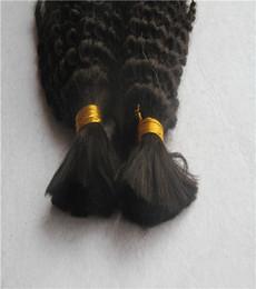 Color negro azabache 6a Sin procesar Rizado rizado Granos de cabello 10-30 pulgadas Armadura de cabello humano 100% Extensiones de cabello brasileño desde fabricantes