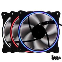 Cpu fan kühler led online-120mm Desktop PC Computer Lüfter Silent LED Lüfter Kühlkörper Kühler 12V DC 3Pin IDE 4pin CPU Kühlkörper Kühler