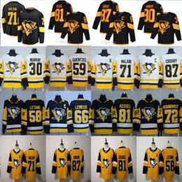 hoodie do estilo do hóquei Desconto 2020 Pittsburgh Penguins Jersey 87 Sidney Crosby 71 Evgeni Malkin Phil Kessel Kris Letang Lemieux Matt Murray Guentzel Hockey Jersey