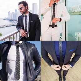Tenues de cravate noire en Ligne-Mode Géométrique Diamant Plaid Cravate Noire De Mariage Formelle Tenue Marié Hex Cravate Réunion D'affaires Partie Du Cou Couche Accessoire
