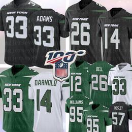 Camisa de sino on-line-New 33 Jamal Adams York # Jet 26 Le'Veon Bell 14 Sam Darnold Jersey 95 Quinnen Williams 12 Joe Namath CJ Mosley Futebol