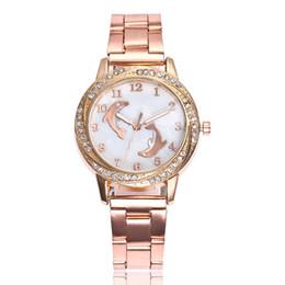 Sıcak Kuvars Kadınlar İzle Yunus Desen Paslanmaz Çelik Elmas Saatler Lüks Moda Bayanlar Gül Altın Saatı Hediyeler Saat cheap quartz dolphin watch nereden kuvars yunus saati tedarikçiler