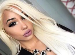 2019 grandes perucas brancas Produtos de cabelo resistente ao calor sexy longo cabelo Mulheres Perucas Sintéticas senhoras branco longo encaracolado cabelo grande peruca parcial onda FZP189 grandes perucas brancas barato