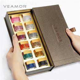 2019 кошачий глаз куклы VEAMOR 12PCS UV Блеск ногтей Смола ногтей Гель-лак UV Builder Gift Box Set Good Present Gel