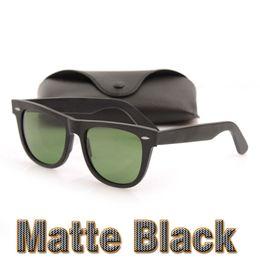 lunettes de vue noir mat Promotion Lunettes de soleil chaudes en verre noir mat pour hommes Lunettes de soleil en verre Lens Plank