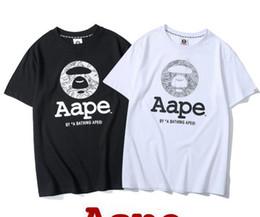 2e6424e475c934 19ss einfache rundhals tide marke großbuchstaben klassische graffiti monkey  kopf männer und frauen paar kurzarm t-shirt männer t-shirt affe im Angebot