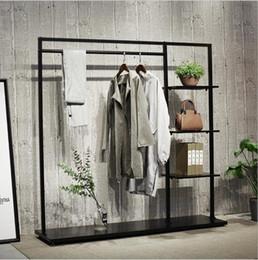 2019 affiche de vêtements de fer Cintre de lichen Iron Landing Garment Frame Cintres simples magasins de vêtements centres commerciaux magasins de vêtements présentoirs affiche de vêtements de fer pas cher