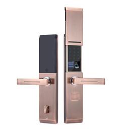 Portas remotas electrónicas on-line-Deslize o tipo de liga de zinco semicondutor de impressão digital bloqueio casa eletrônico anti-roubo inteligente bloqueio de senha bloqueio remoto porta aberta