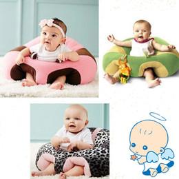 Kinder plüsch sitz online-Neue Cartoon Baby Sitze Sofa Baby Möbel Unterstützung Sitzen Haltung Sitz Bequemes Sofa 0-3 Jahre Kind Lernen Essen Plüsch Weichen Stuhl