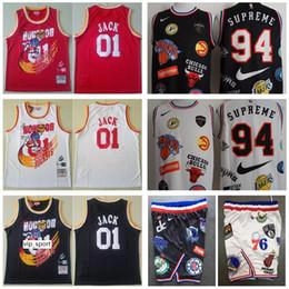rote raketen Rabatt Basketball Houston 01 Raketen Travis Scott Jack Jersey Tribünenbericht Remix X 94 Jr Smith Collection Covered enthüllt Verbindung Rot Schwarz Weiß