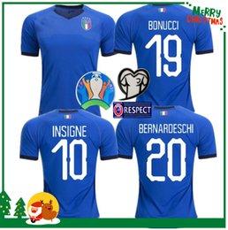 2019 camisa totti camisetas de fútbol italia 2019 CHIELLINI INSIGNE camiseta de fútbol italia INSIGNE Camiseta de fútbol BERNARDESCHI TOTTI maillot de foot camisa totti baratos