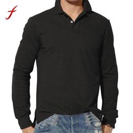Feitong Nice New Fashion Mens S Casual Slim Maglietta a maniche lunghe Top Camicetta Plain Shirt Autunno Harajuku Poliestere S da