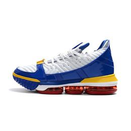 98137fcc723 Zapatillas de baloncesto para hombre lebron 16 retro Resplandor negro en  oscuro Trono Azul SuperBron Blanco Púrpura Gris nuevos niños lebrons tenis  tenis ...