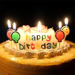 alles gute geburtstagskunst Rabatt Mehrfarbenflamme alles Gute zum Geburtstagkerze-Ausgangsdekoration-bunte Farbe Flammenparaffinkunst Kerzen für Geburtstagsfeier