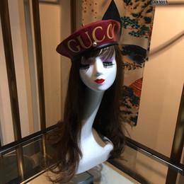 Cappelli berretti inverno uomini online-2019 nuovo berretto in pelle PU berretto moda regolabile berretto autunno inverno cappello caldo donna berretti uomo berretti casual Designer di lusso Berretti premium