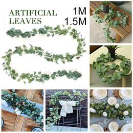 cesta de buquê de flores artificiais Desconto Simulado Eucalipto Criativo Hortaliças 1 M / 1.5 M Decoração Do Casamento Do Partido Artificial InsRattan Artesanal Ornamento Da Planta Artificial